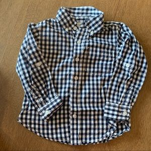🏇🏼 2 for $20 Baby Gap Blue & White Check Shirt